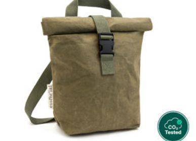 Bags and totes - Medium messenger office black/dark green - ESSENT'IAL