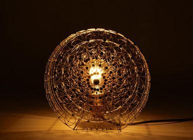 Lampes à poser - Lampe à poser en bronze ronde - ITHEMBA