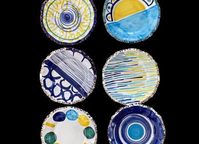 Assiettes au quotidien - Assiettes en céramique peintes à la main diamètre cm 26, cm24,cm 20 - CERASELLA CERAMICHE