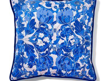 """Cushions - """"AU JARDIN"""" cushion blue - AMÉLIE CHOQUET"""