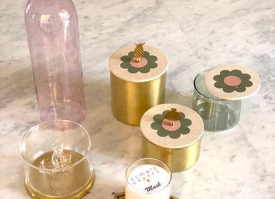 Boîtes de rangement  - Petite boîte en laiton à motif floral carrelé avec poignée en grenade - ASMA'S CRAFTS