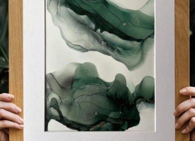 Objets de décoration - Peinture à l'alcool sur papier 30x40cm  - ARTYPIC