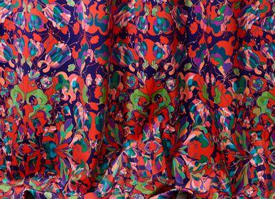 "Upholstery fabrics - Multicolor ""Au Jardin"" fabrics - AMÉLIE CHOQUET"