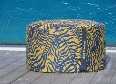 Outdoor decorative accessories - OTTOMAN CUSHION IKEBANA (Collection 2022) - TOILES & VOILES