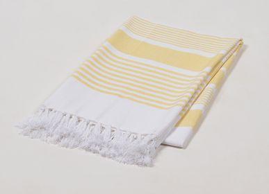 Bath towels - Yarn-dyed honey hammam towel - QALARA