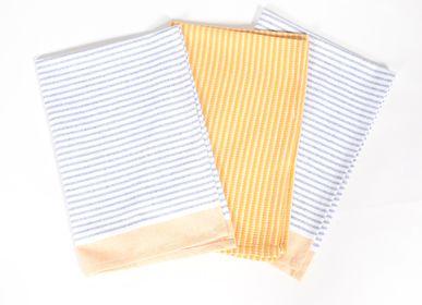 Dish towels - Yarn-dyed recycled cotton kitchen towel - QALARA