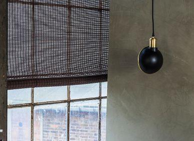 Rideaux et voilages - Store enrouleur en bambou brun foncé - COLOR & CO