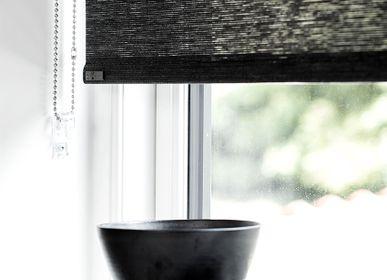 Rideaux et voilages - Store enrouleur en papier gris foncé avec chaîne de traction - COLOR & CO
