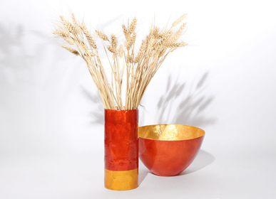 Vases - Vase Bicolore en Nacre sur Verre - ITHEMBA