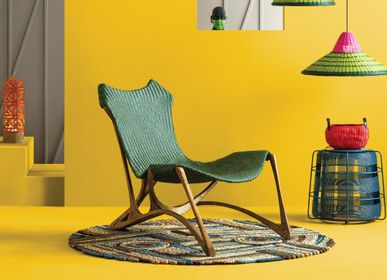 Chairs for hospitalities & contracts - INDUSTRIA EDITION Loopy Lounge Chair  - DESIGN COMMUNE