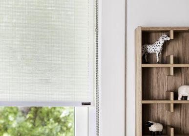 Rideaux et voilages - Store enrouleur en papier blanc, avec chaîne à tirer - COLOR & CO