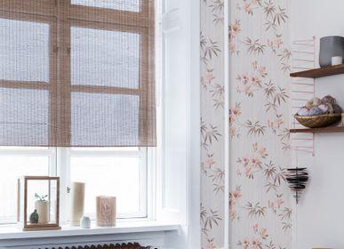 Rideaux et voilages - Store enrouleur en bambou fin marron, avec chaîne - COLOR & CO