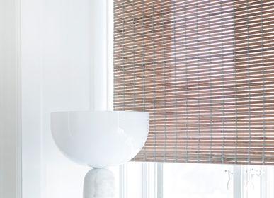 Rideaux et voilages - Store enrouleur en bambou teinté gris, avec chaîne - COLOR & CO