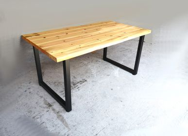Dining Tables - Dining Table with Square Tubular Legs Type O - LIVING MEDITERANEO