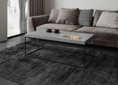 Tables basses - TABULA CUBICOLO IGNIS Table de salon en béton avec ou sans cheminée éthanol - CO33 EXKLUSIVE BETONMÖBEL