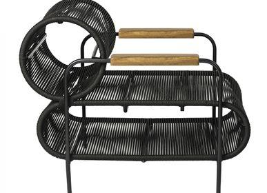 Lawn armchairs - ELO Armchair Wood Armrest - FILIPE RAMOS DESIGN