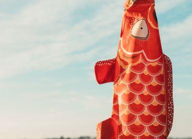 Children's decorative items - Classy Red Koinobori (K023/S) - MADAME MO