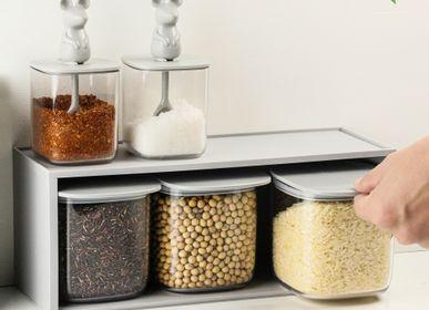 Boîtes de conservation - Support de tiroir à bocal de rangement à dessus plat - Ustensiles de cuisine: dessous de verre pour boire du thé et du café, 100% recyclable. - QUALY DESIGN OFFICIAL