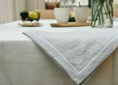Linge de table textile - CHANVRE: SET DE TABLE BRODÉ ET PERSONNALISABLE - MAISON GALA
