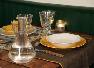 Everyday plates - The white porcelain deep plate - OGRE LA FABRIQUE