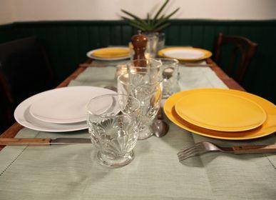 Everyday plates - Limoges white porcelain round plate - OGRE LA FABRIQUE