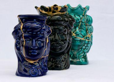 Design objects - MOORISH HEADS CERAMIC CATANIA MODEL - SICILIAN CRAFTS - MAISON GALA