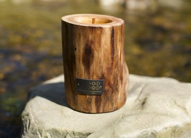 Gifts - UBUD M | Interior wooden candle made of wood, beeswax and natural oils - WOOD MOOD