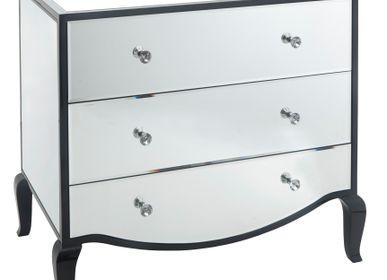 Commodes -  Coffre noir brillant et miroir Carn - RV  ASTLEY LTD