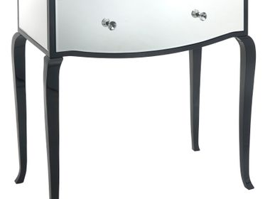 Console table -  Carn Black & Mirrored Glass Dressing Table - RV  ASTLEY LTD