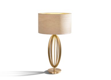 Table lamps - Olive table lamp in pale gold - RV  ASTLEY LTD
