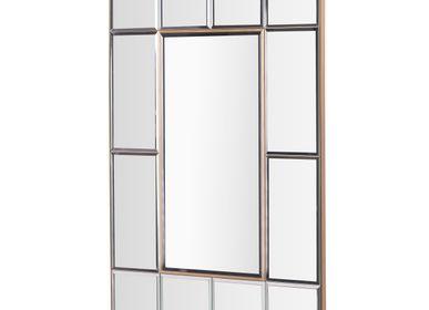 Mirrors - Selenga Mirror in Antique Brass Finish - RV  ASTLEY LTD
