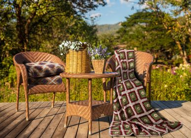 Throw blankets - CROCHET BOILED WOOL COLLECTION - FRATI HOME