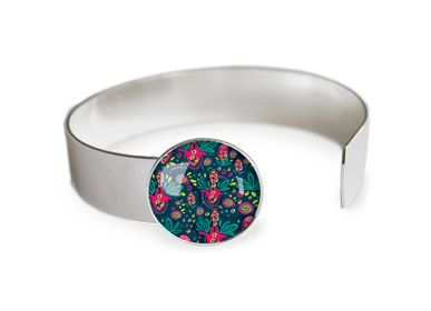 Jewelry - Medium bangle finishing touch all silver 925 Les Parisiennes Rio - LES PARISIENNES D'EMILIE FIALA