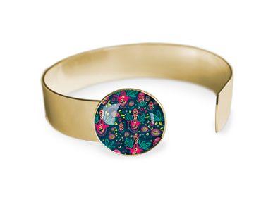 Jewelry - Medium bangle fully gilded with fine gold Les Parisiennes Rio - LES PARISIENNES D'EMILIE FIALA