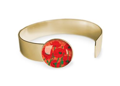 Jewelry - Medium bangle fully gilded with fine gold Les Parisiennes Poppy - LES PARISIENNES D'EMILIE FIALA