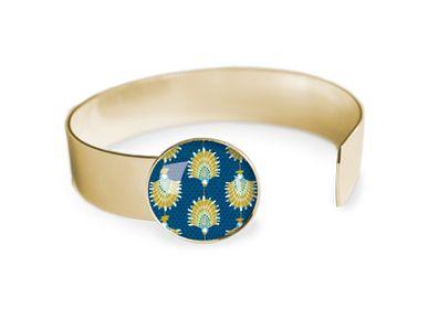 Jewelry - Medium bangle fully gilded with fine gold Les Parisiennes Flabellum - LES PARISIENNES D'EMILIE FIALA