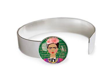 Jewelry - Medium bangle finishing touch all silver 925 Les Parisiennes Frida - LES PARISIENNES D'EMILIE FIALA