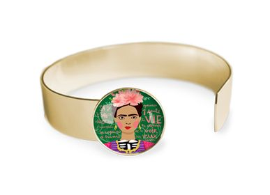 Jewelry - Medium bangle fully gilded with fine gold Les Parisiennes Frida - LES PARISIENNES D'EMILIE FIALA