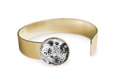 Jewelry - Medium bangle fully gilded with fine gold Les Parisiennes Botanica - LES PARISIENNES D'EMILIE FIALA