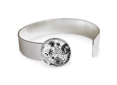 Jewelry - Medium bangle finishing touch all silver 925 Les Parisiennes Botanica - LES PARISIENNES D'EMILIE FIALA