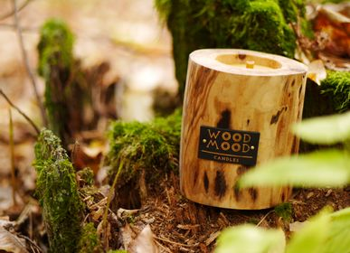 Gifts - UBUD S | Wooden, Beeswax & Natural Oils Inner Candle | Perfect Gift Size - WOOD MOOD