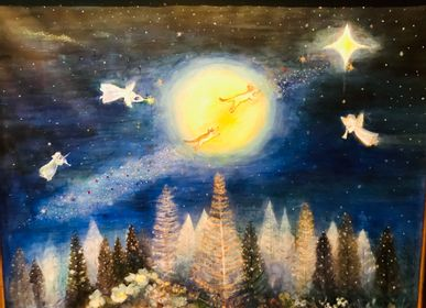 Design objects - Oil painting for peace from Japan - WABI