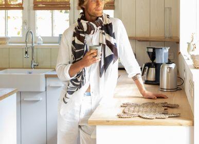 Foulards et écharpes - écharpe ONDE - 100% COTON BIO - IMPRESSION - PETRUSSE PARIS