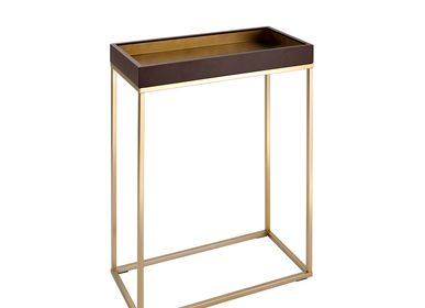 Console table - Alyn Small Console Table in Chocolate Finish - RV  ASTLEY LTD
