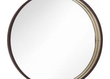 Miroirs - Miroir Alyn Dia 75cm en Chocolat - RV  ASTLEY LTD