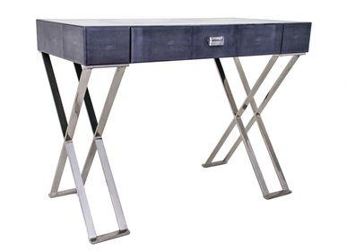 Other tables - Dark Grey Sienna Shagreen Dressing Table - RV  ASTLEY LTD