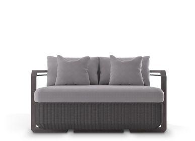 Sofas - Hampton Grey Two Seat Sofa - LUXXU MODERN DESIGN & LIVING