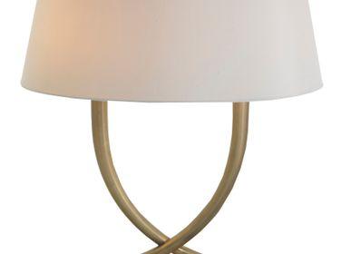 Lampes à poser - Iva, lampe de table en laiton antique - RV  ASTLEY LTD