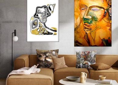 "Paintings - Art print ""ENJOY THE SILENCE"" - L'ATELIER D'ANGES HEUREUX"