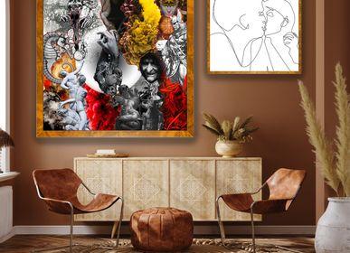 """Fabric cushions -  """"Renaissance"""" Collage Limited Edition - L'ATELIER D'ANGES HEUREUX"""